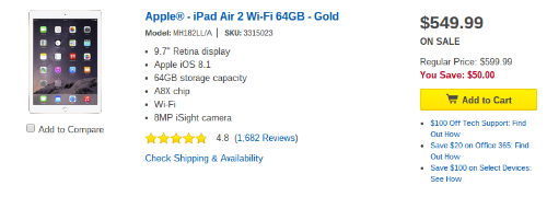 iPad Air 2 Deal