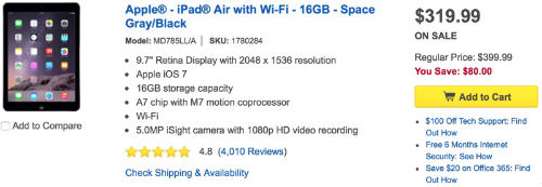 iPad Air Black Friday Sale