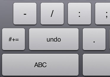 iPad Undo Button