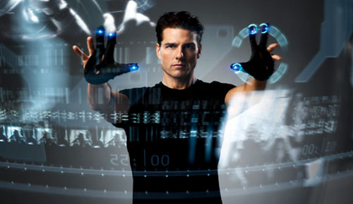 Minority Report 3D gesture interface