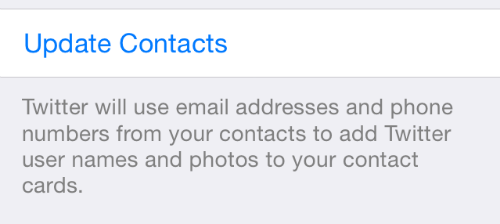 Update iPad Contacts