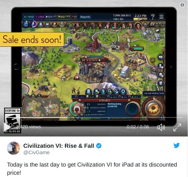 Civ Rev VI Tweet