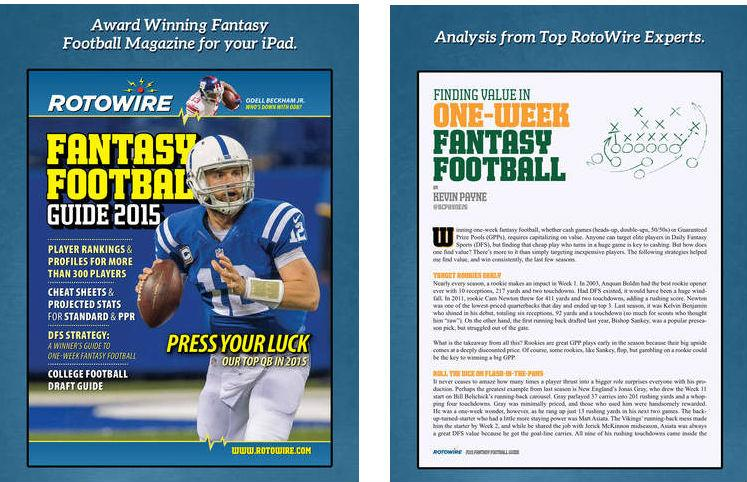 RotoWire Fantasy Football Guide 2015