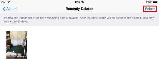 How to delete your Recently Deleted photos.