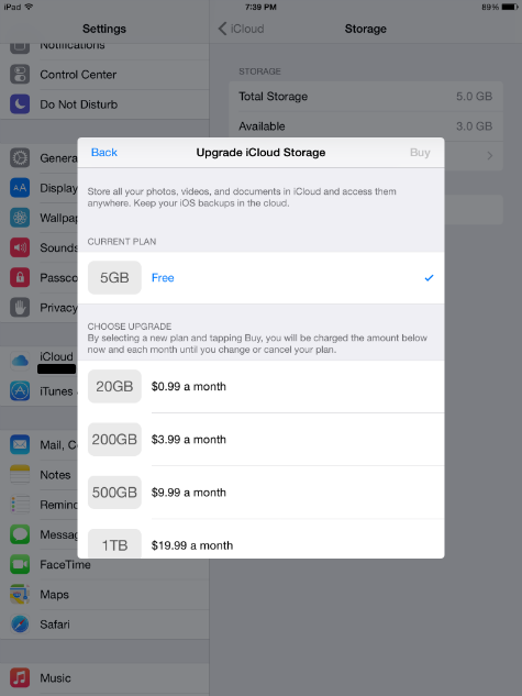 How to buy more icloud storage on ipad jailbreak
