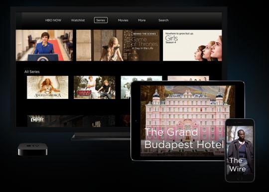 Apple streaming TV on iPad.