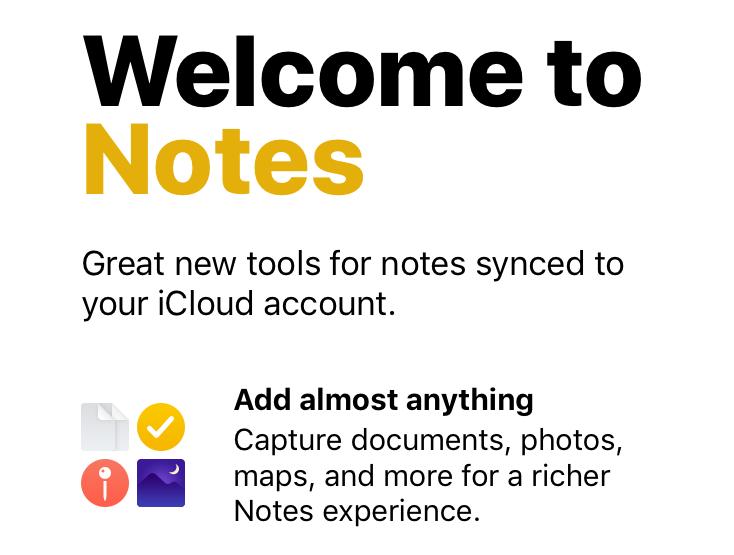 Notes iOS 11