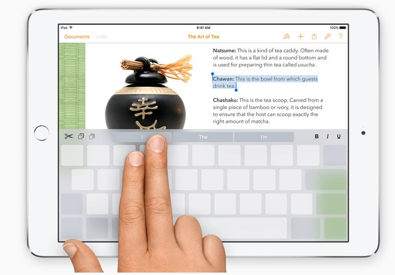 iPad TrackPad iOS 9
