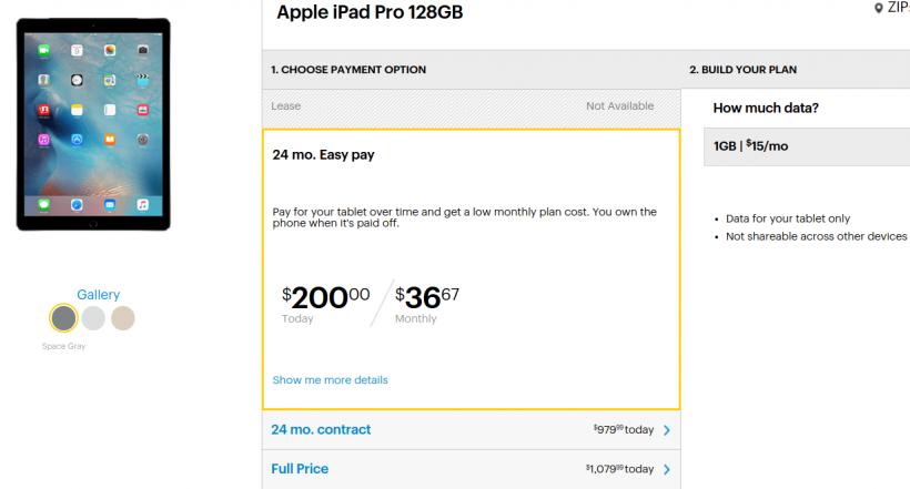 Sprint iPad pro